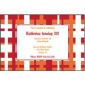 Orange Red Geometric  Personalized Invitations