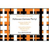 Black Orange Geometric Personalized Invitations