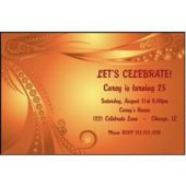 Orange Bead Swirls Personalized Invitations