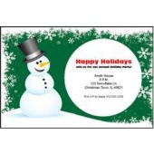 Green Snowman Personalized Invitations