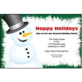 Holiday Snowman Personalized Invitations
