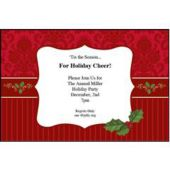 Holiday Holly Personalized Invitations