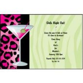 Holiday Martinis  Personalized Invitations