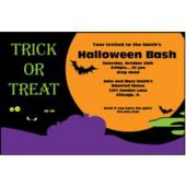 Halloween Moon Personalized Invitations