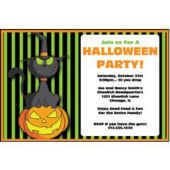 Halloween Cat Personalized Invitations