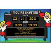 Game Day Scoreboard Personalized Invitations