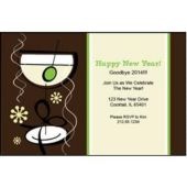Funky Martini Personalized Invitations