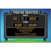 What's The Score  Personalized Invitations