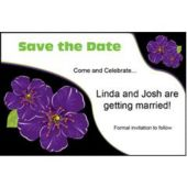 Purple Flower Personalized Invitations