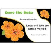 Orange Flower Personalized Invitations