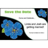 Blue Flower Personalized Invitations