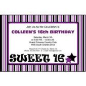 Purple Sweet 16 Personalized Invitations
