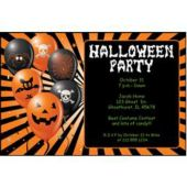 Halloween Balloons Personalized Invitations