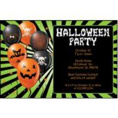 Halloween Green Personalized Invitations