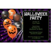 Halloween Purple Personalized Invitations