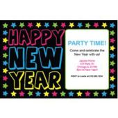 Star Studded New Year Personalized Invitations