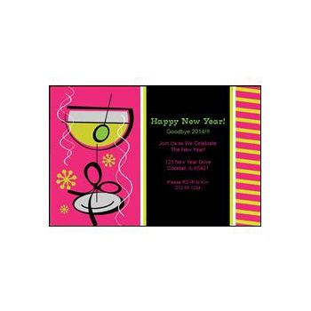 New Years Glass Pink