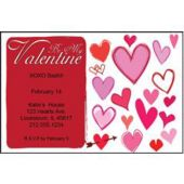 Valentine Hearts Personalized Invitations