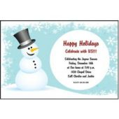 Frosty Snowman Personalized Invitations