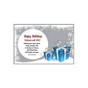 Blue Presents Personalized Invitations