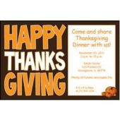 think Big thanksgiving Personalized Invitations