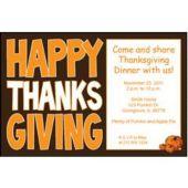 think Big thanksgiving Personalized Invitations