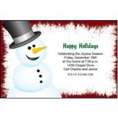 Christmas Snowman Personalized Invitaions