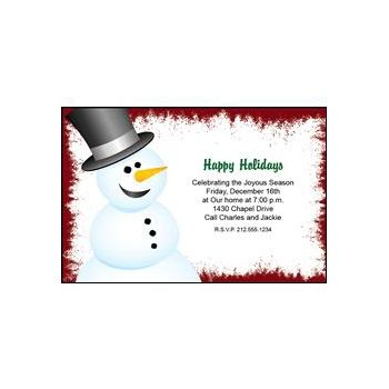 Christmas Snowman Personalized Invitations