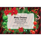 Christmas Holly Personalized Invitations