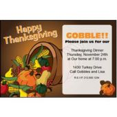 Thanksgiving Cornucopia Personalized Invitations