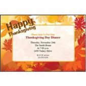 thanksgivn Border Leaf Personalized Invitations
