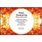 Fall Leaves Personalized Invitations
