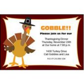 Gobble Gobble Personalized Invitations