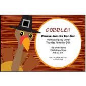 Pilgrim Turkey Personalized Invitations