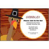 Pilgrim Turkey Personalized Invitations