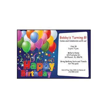 Happy Bday Balloons Blue