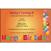 Balloon Birthday  Personalized Invitations