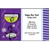 Purple Martinis Personalized Invitations