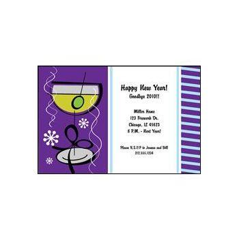 New Years Glass Purple