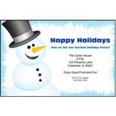 Snowflake Snowman Personalized Invitations