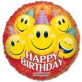 Birthday Smiles Balloons - 18 Inch, 5 Pack