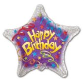 Birthday Streamers Balloons - 18 Inch, 5 Pack