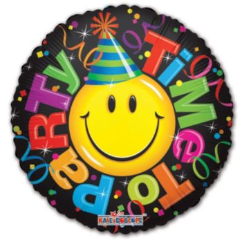 Party Time Balloons - 18 Inch, 5 Pack