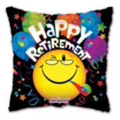 "Happy Retirement Metallic 18"" Balloon"