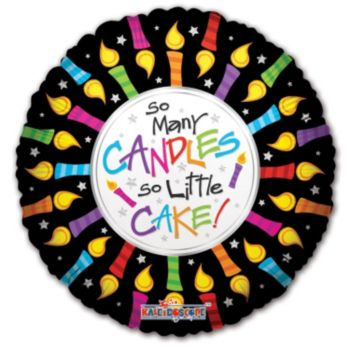 So Many Candles Birthday Balloons - 18 Inch, 5 Pack