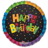 Jazzy Birthday Balloons - 18 Inch, 5 Pack