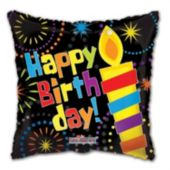 Big Candle Birthday Balloons - 18 Inch, 5 Pack