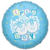 "It's A Boy Metallic 18"" Balloon"
