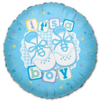 It's a Boy Metallic Balloon - 18 Inch