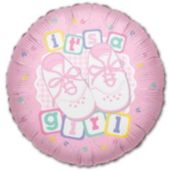 It's A Girl Metallic Balloon - 18 Inch